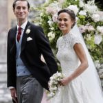 pippa middleton wearin giles deacon wedding dress
