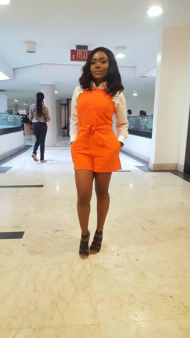 Meg Otanwa Stuns in Victoria Beckham Romper and Jimmy Choo for Europe Fair