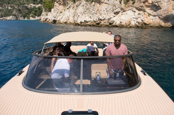 Monaco Grand Prix 2017: Don Jazzy Drives a Private Boat Around the French Riviera & Meets F1 Drives– Sergio Perez & Mika Hakkinen