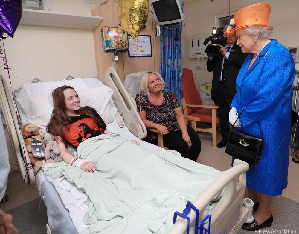Queen Elizabeth II visits Manchester Arena attack victims at hospital