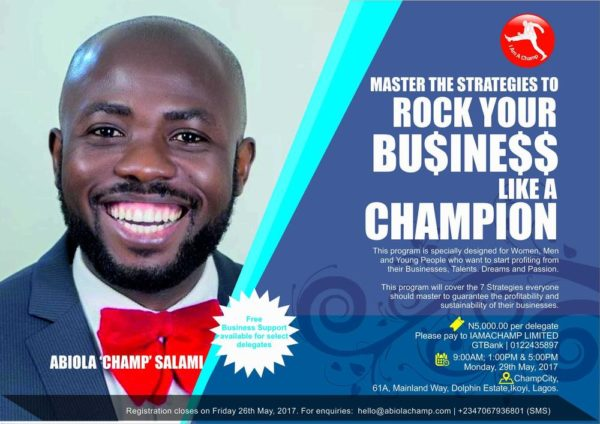Abiola Champ Salami Rock Your Business