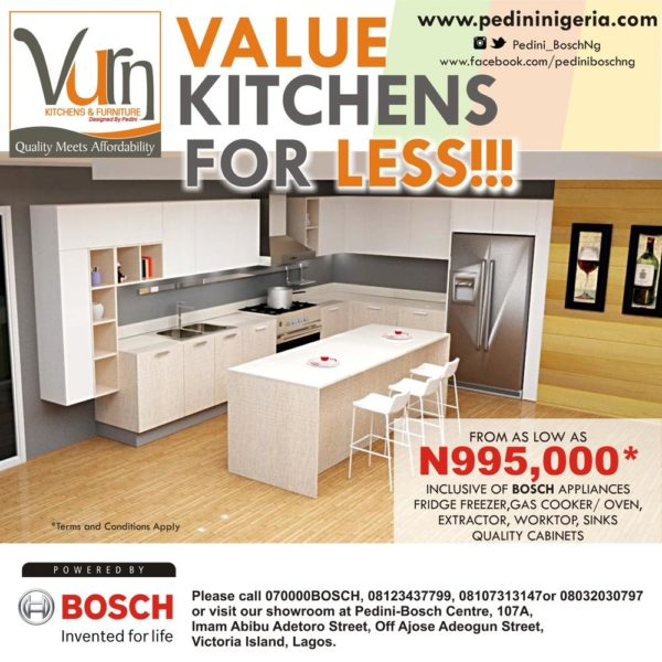 Get The Revolutionary Vurn Mini Kitchen With Bosch Appliances For As Low As  N995,000!   BellaNaija