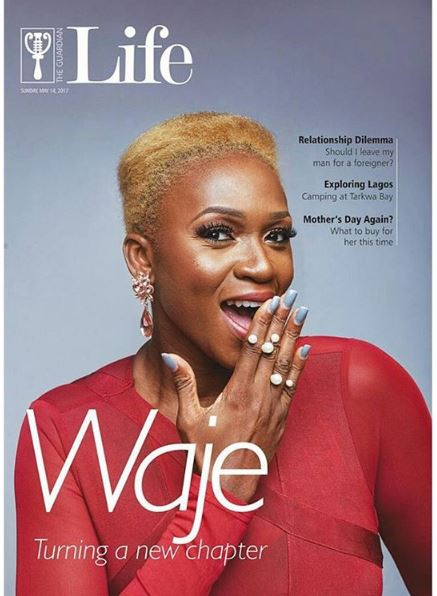 Turning a New Chapter! Waje Covers Guardian Life Magazine's Latest Issue