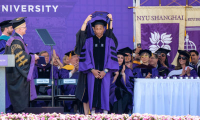 """Imagine the possibilities when women are not held back"" Watch Pharrell Williams' Empowering Speech at NYU"