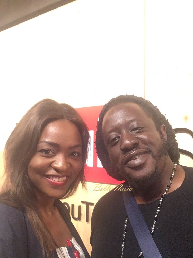 Gbemisola with DonDutchie, one of the Pioneers of the AfroBeats movement here in London