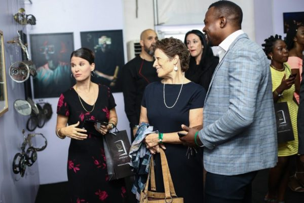 Guests at the art exhibition
