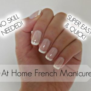 Monday Manicure: Easy DIY French Manicure on Natural Nails