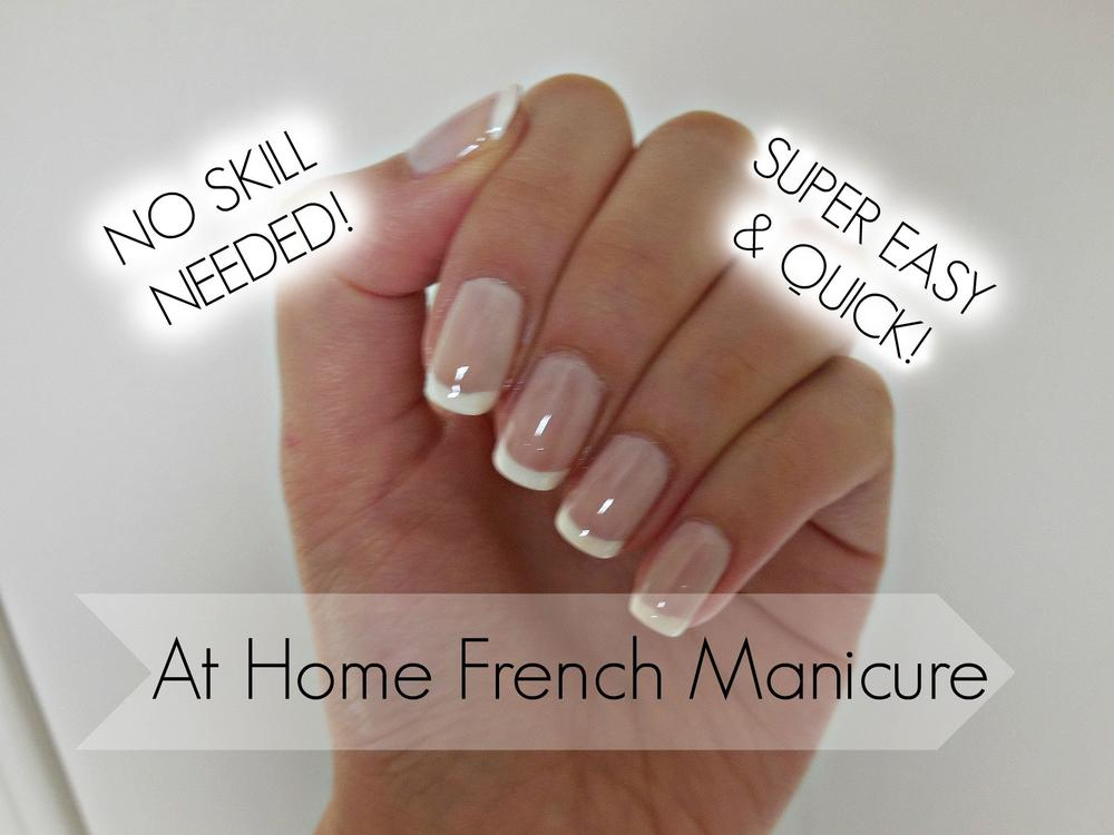 monday manicure easy diy french manicure on natural nails bellanaija. Black Bedroom Furniture Sets. Home Design Ideas