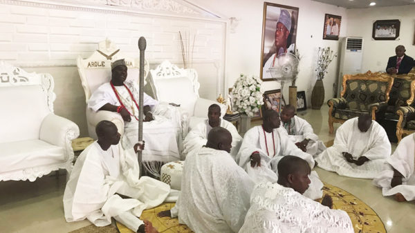 """missafricagb ooni of ife 5 600x338 - Sarah Jegede """"Miss Africa Great Britain""""  Visits Ooni of Ife"""