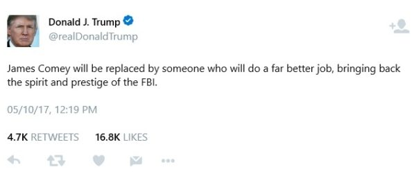"BellaNaija - ""When things calm down, they will be thanking me"" - Donald Trump responds to People criticizing his decision to sack FBI Director"