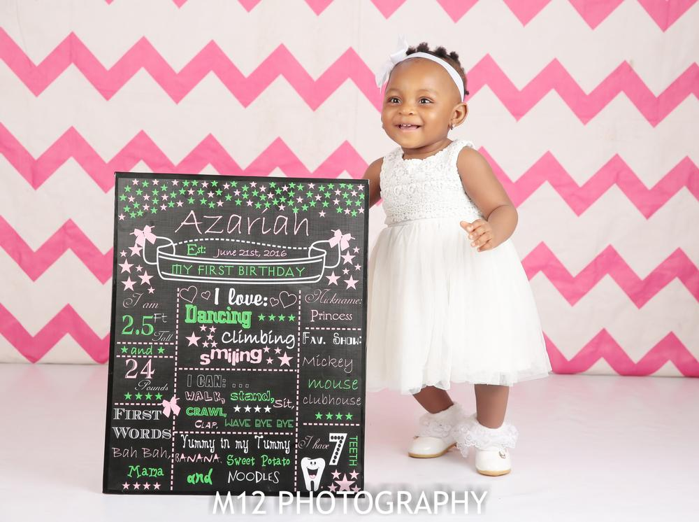 Happy 1st Birthday Baby Azariah! See her Cute New Photos + Sweet Message from Celeb Parents Gbenro & Osas Ajibade