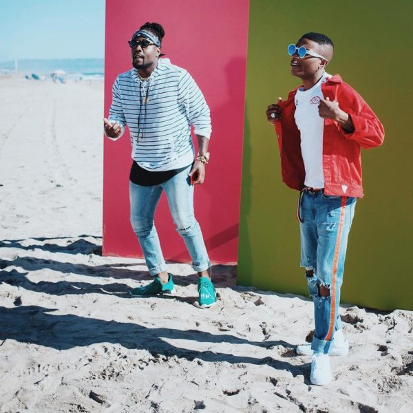 "BellaNaija - Naija Boys! Wale & Wizkid link up for New Music Video ""My Love"" | See B.T.S Photos"