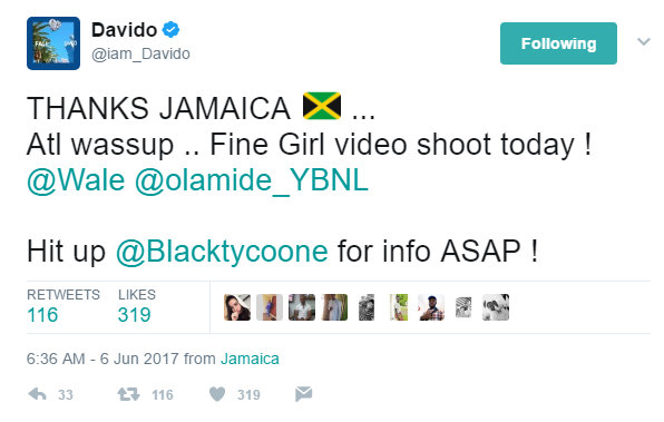 "Davido links up with Popcaan for Video of ""My Story"" 