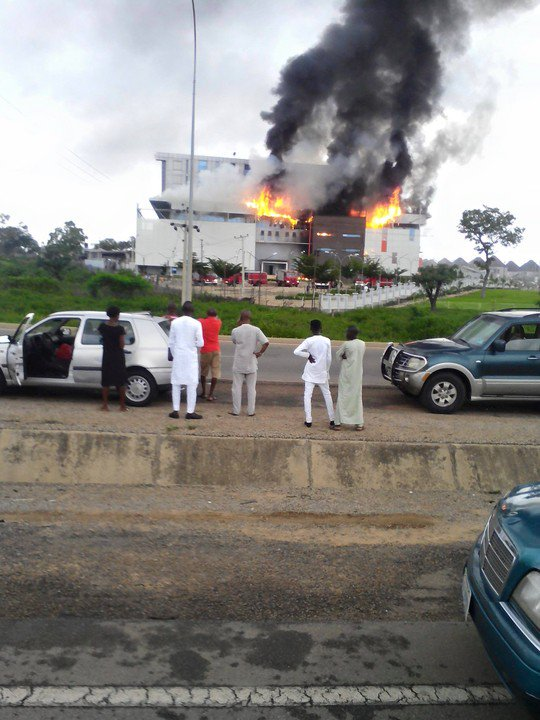 Fire Engulfs House on the Rock Church in Abuja