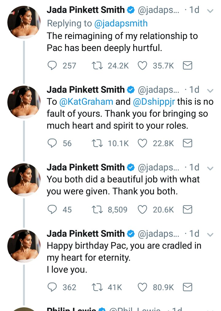 "BellaNaija - ""Pac never said goodbye to me"" - Jada Pinkett Smith faults 2Pac's Biopic ""All Eyez on Me"""