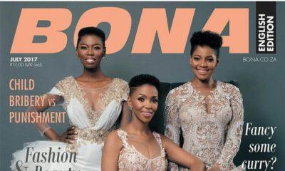 South Africans Nhlanhla Nciza, Lira & Moneoa Grace Bona Magazine's July 2017 Cover