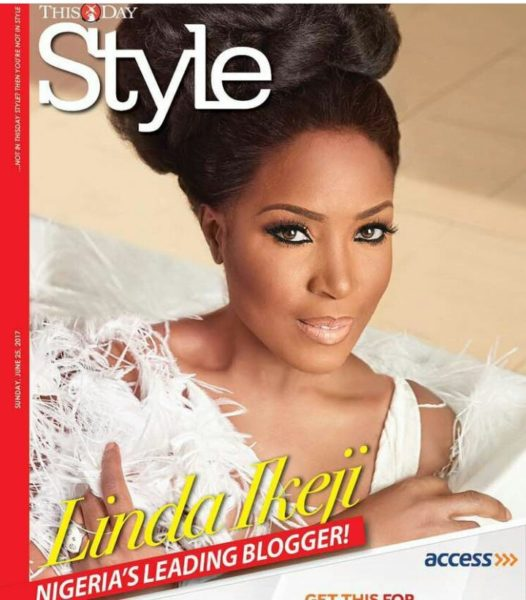 Media Entrepreneur Linda Ikeji is a Beauty Delight for ThisDay Style Magazine's Latest Issue