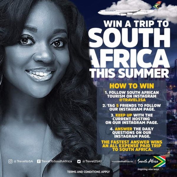 win free to south Africa and Explore South Africa like Seyi Shay, Orezi, Bolanle Olukanni, Arese Ugwu & Jackie Appiah