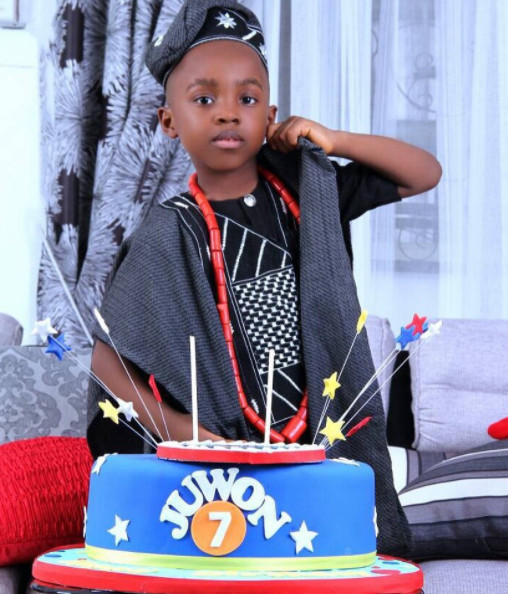 Nollywood Actress Mercy Aigbe's Son Olajuwon Celebrates 7th Birthday   Photos