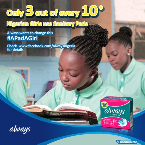 Always Sanitary Pads donation