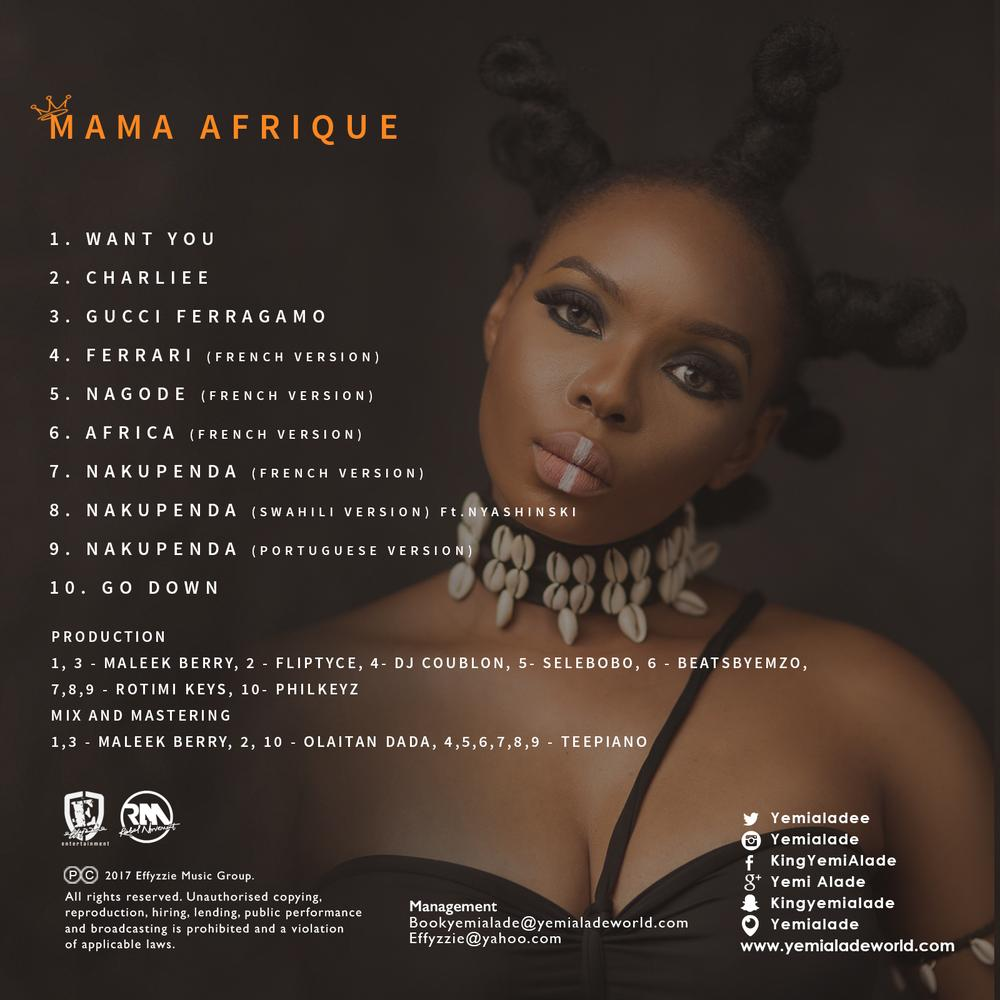 "BellaNaija - Yemi Alade releases Official Artwork and Tracklist for ""Mama Afrique"" EP"
