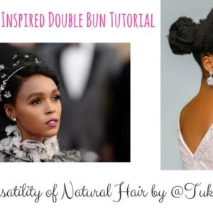 BN Fro Friday: Style Your Natural Hair with this Janelle Monae Inspired Double Bun by Tuke Morgan
