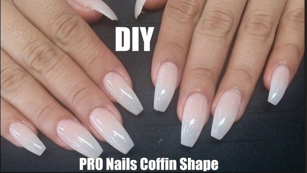 Monday Manicure: How to Fix Acrylic Nails and Create a Coffin Shape ...