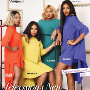 TV's New Power Girls! Tallulah Doherty, Mimi Onalaja, Taje Prest & Idia Asien for Vanguard Allure