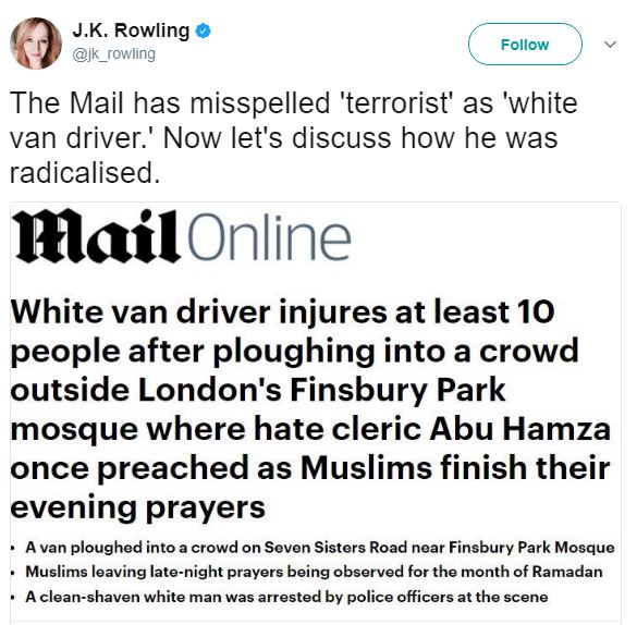 BellaNaija - #FinsburyPark Attack: Controversy trail Media Outlet's Headline