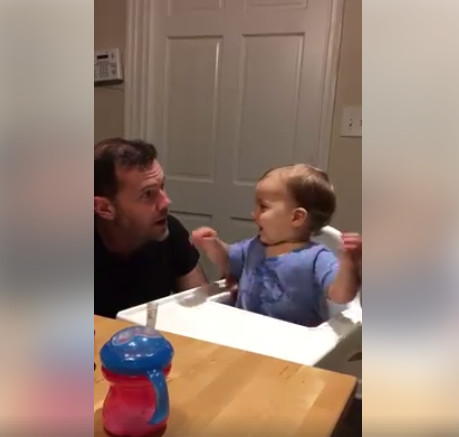 This Dad and his 19-month Old Son's Beatboxing Session is too Cute!