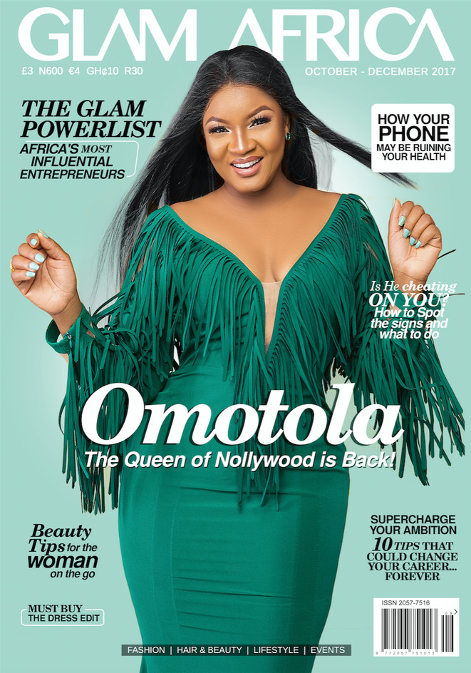 Nollywood Screen Diva Omotola Jolade Dazzles On the Cover of Glam Africa Magazine BellaNaija