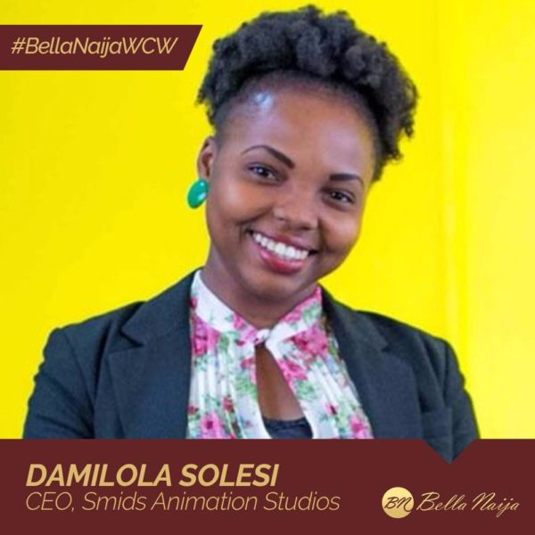 Promoting Women's Involvement in Tech! Damilola Solesi of SMIDS Animation Studios is our#BellaNaijaWCW this Week