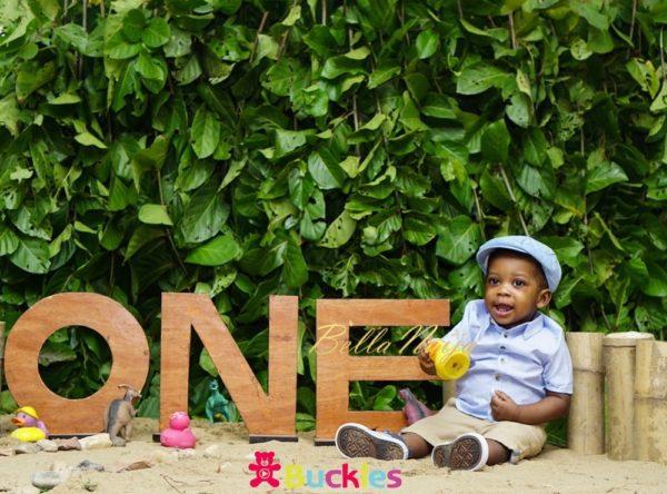 Deyemi Okanlawon's son's 1st birthday