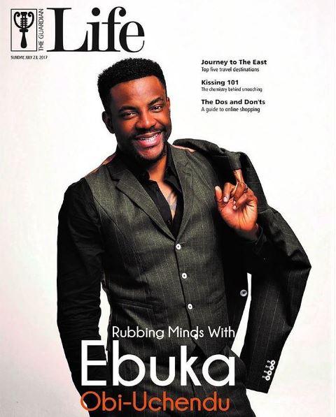 dailynewsvibe - Rub Minds with Ebuka Obi-Uchendu as he covers Guardian Life Magazine's latest issue