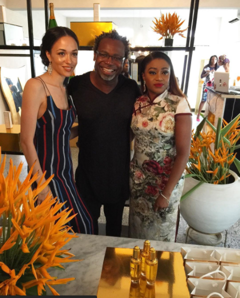 Eku Edewor is the Face of Narganics Aurum Photos from the The Aurum Experience Event