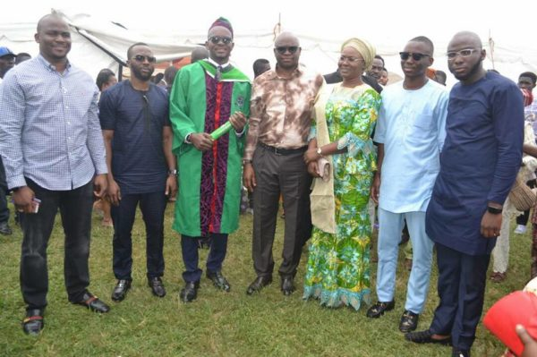 """I want others to emulate me"" - Governor Fayose says as son graduates from Nigerian University"