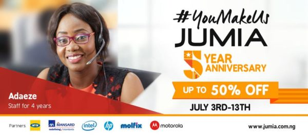Jumia 5th anniversary sale