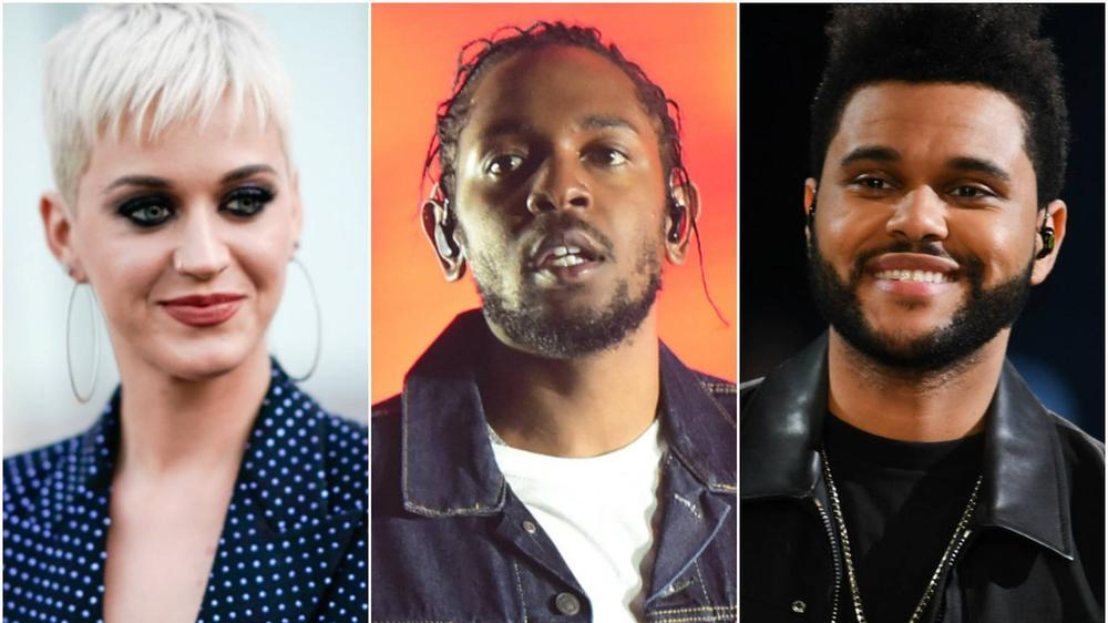 Kendrick Lamar, Katy Perry & The Weeknd lead nominations for MTV VMAs 2017 | See Full List