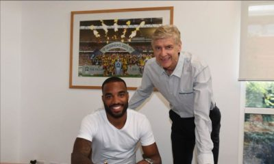 It's Official! Lacazette becomes Arsenal's new Club Record Signing