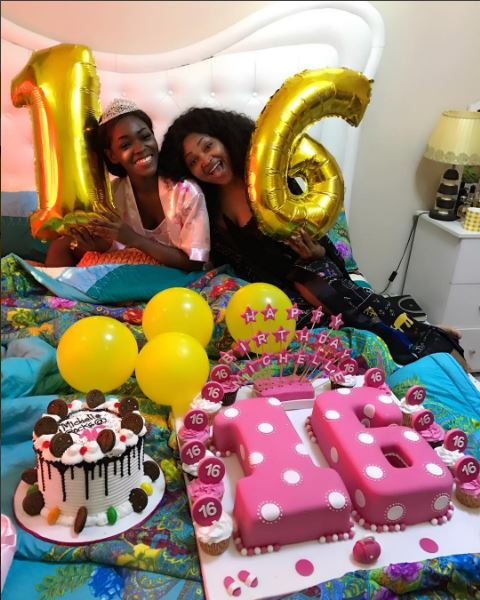 Mercy Aigbe's Daughter Michelle Celebrates 16th Birthday