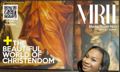 Nathaniel Bassey and his beautiful wife Sarah are on the cover of the July edition of Media Room Hub magazine.