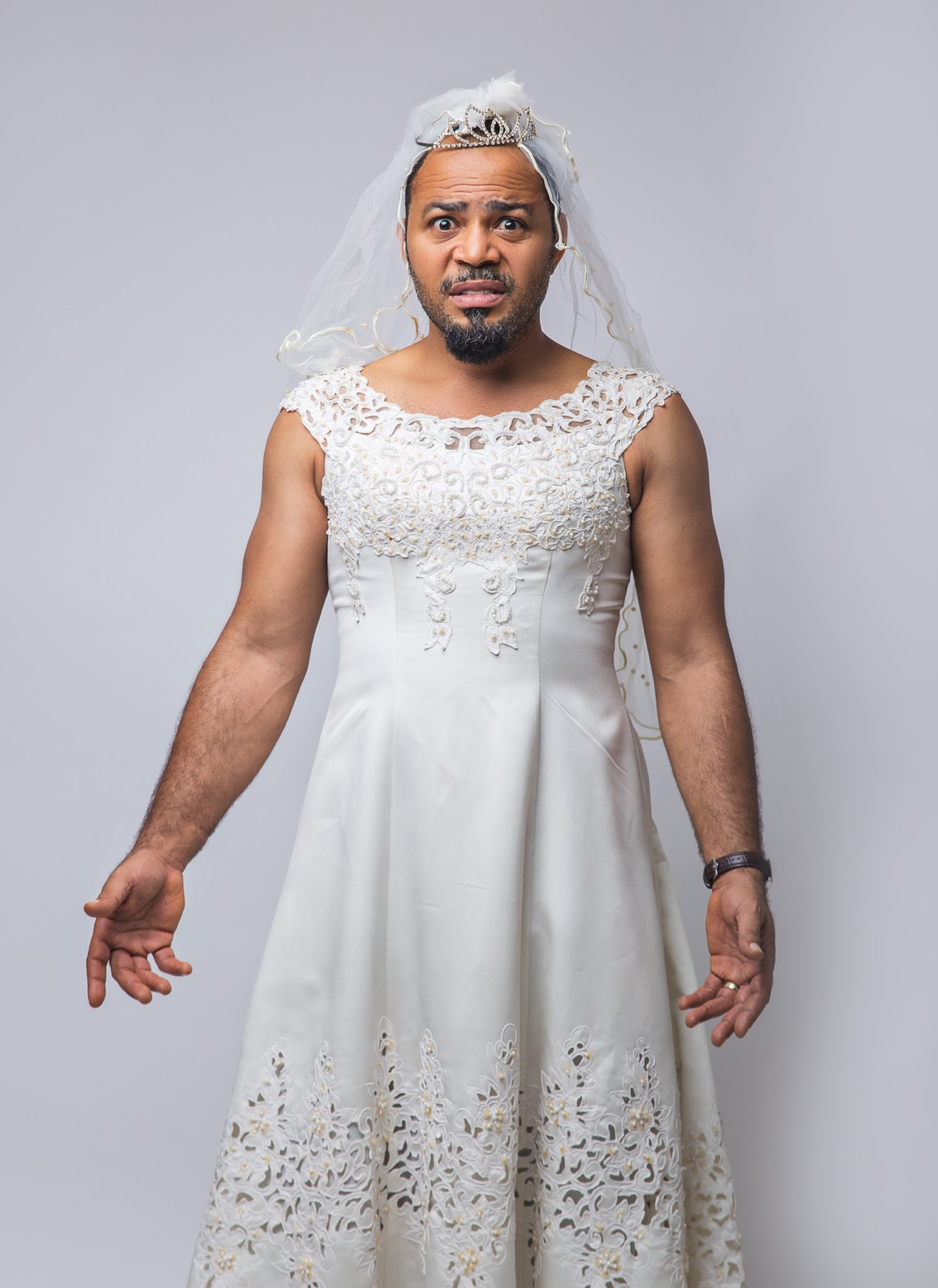 "Roles reversed! Check out photos of Omoni Oboli & Ramsey Nouah for ""My Wife & I"""