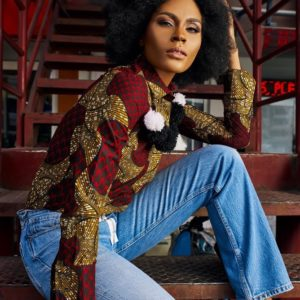 """Somkele is Lisa Folawiyo's Star Girl for A/W '17 Collection 'Daze of Summer"""""""
