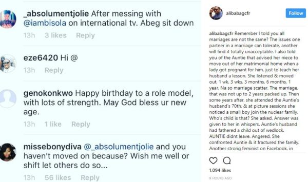 Don't swallow Panadol for another person's headache - Ali Baba advices angry Instagram User