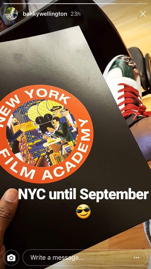 Banky W back in New York for Film School