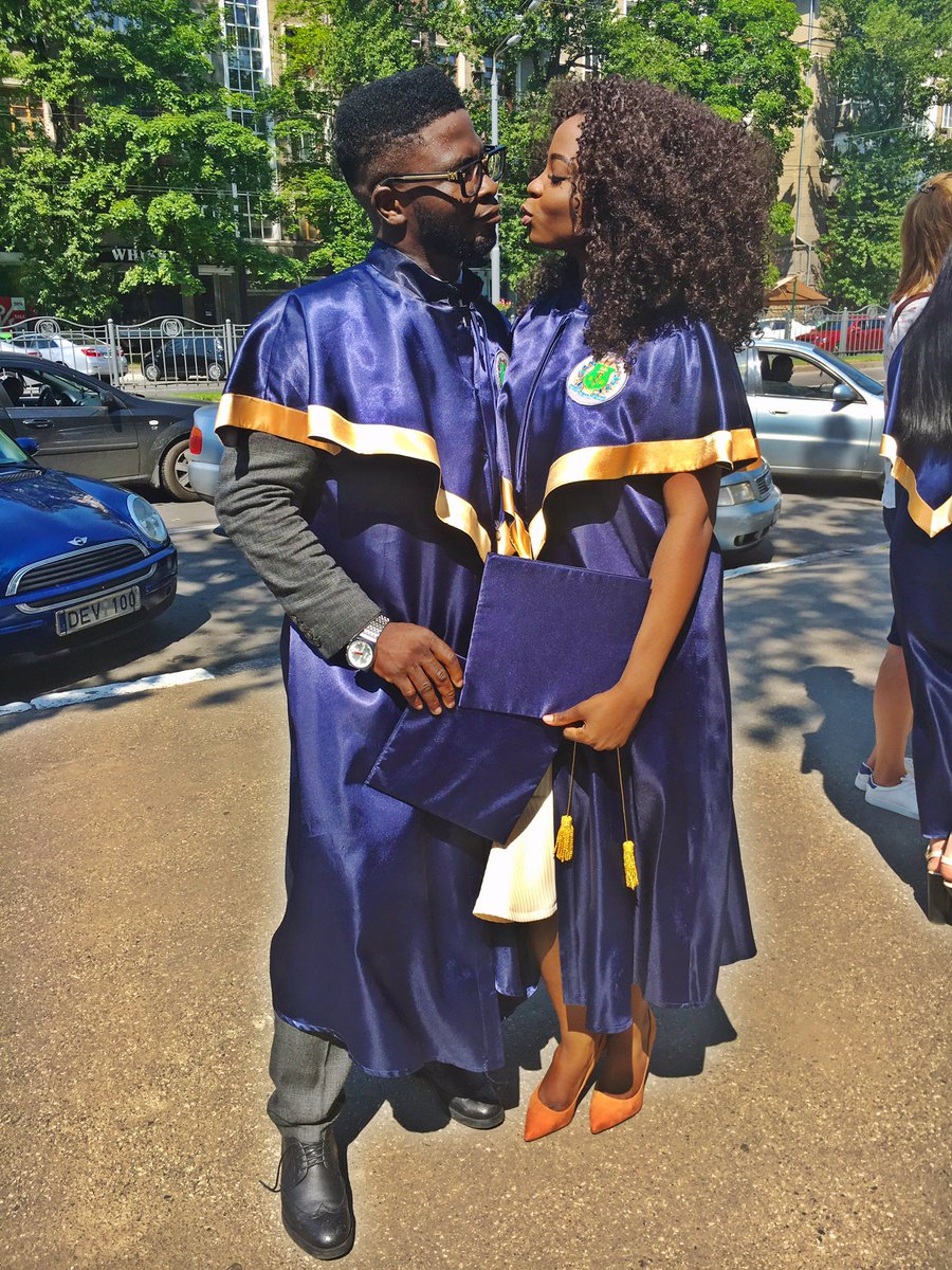 "BellaNaija - ""My best part of Ukraine experience"" - Craze Clown shares lovely Graduation Photos with Girlfriend"