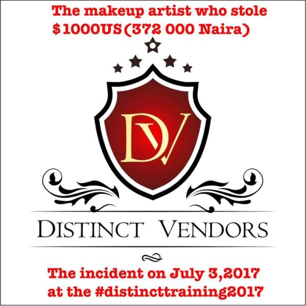 Vendor tells story of how Make-up Artist stole $1000 from her