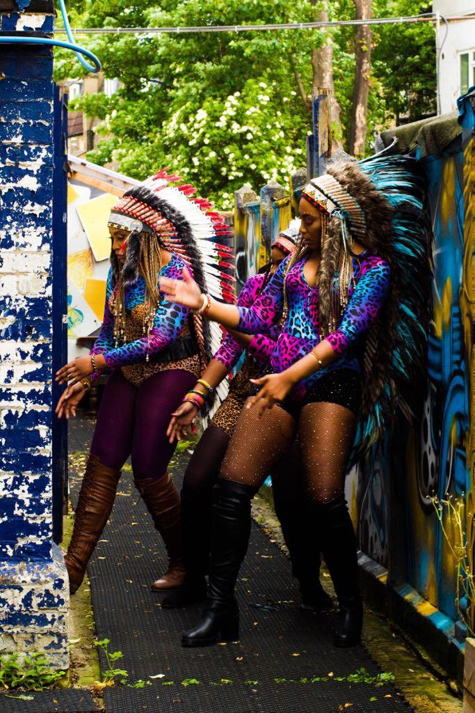 "BellaNaija - The Native Indians! B.T.S. Photos of SHiiKANE's New Music Video ""Oga Police"""