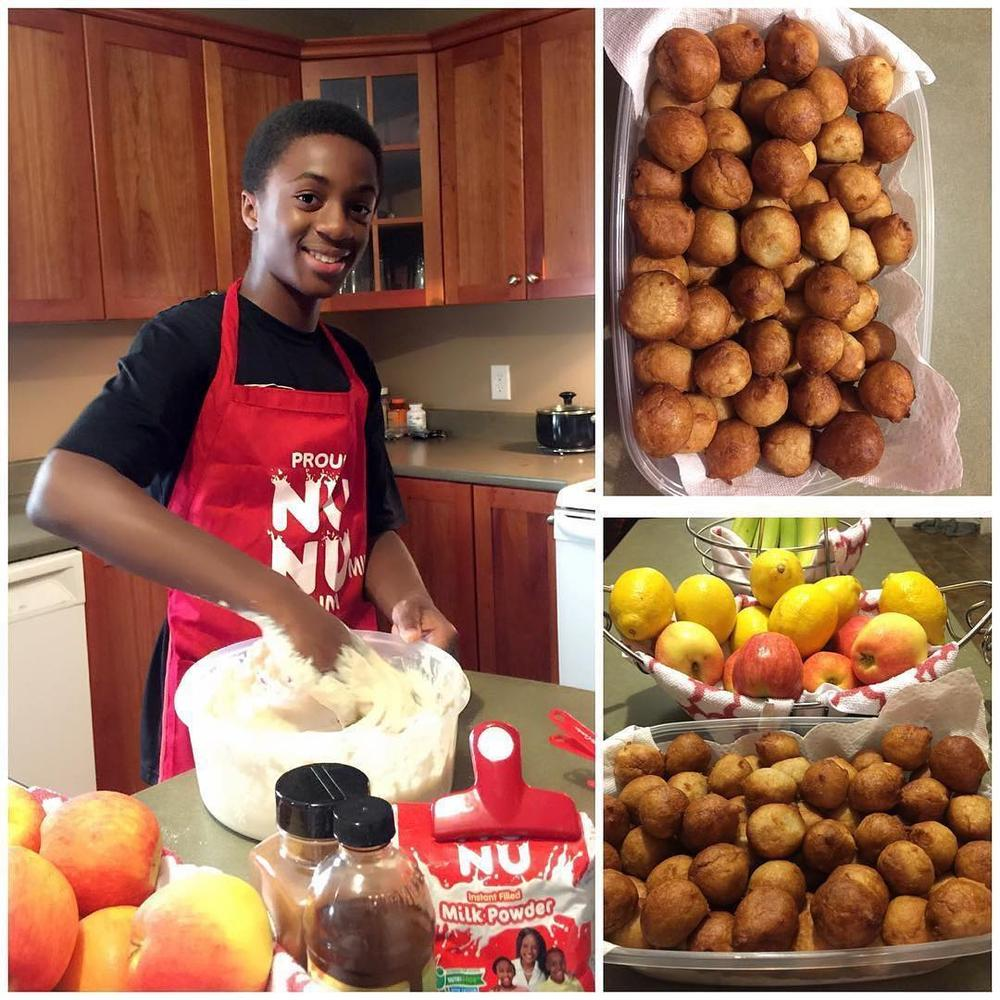 """Teach your sons to cook"" - Omoni Oboli shares Photo of her son in the Kitchen"