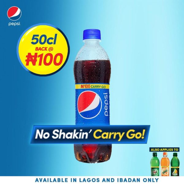 Pepsi 50cl price change to N100